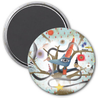 Delicious frienship aqua fox birds fairy Magnet