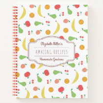 Delicious Fruit Pattern | Recipes | Custom Name Notebook