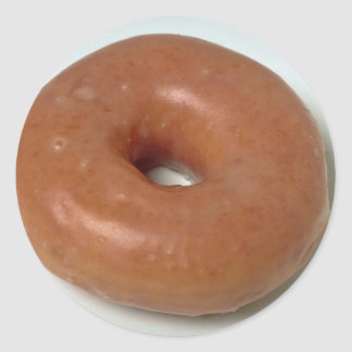 Delicious Glazed donut pastry Classic Round Sticker