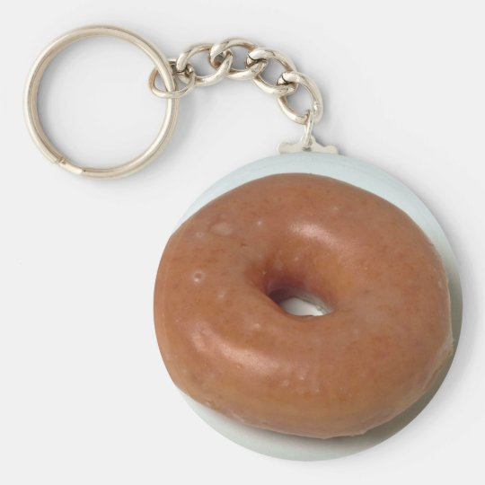 Delicious Glazed donut pastry Keychain