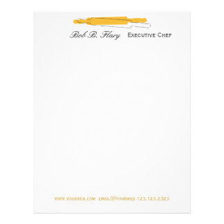 Delicious  Gourmet Cooking Chef  Restaurant Letterhead