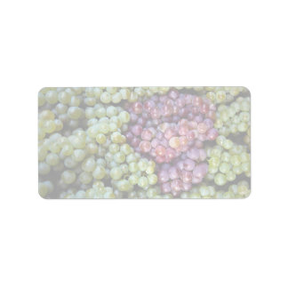 Delicious grapes fruit personalized address labels