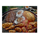 Delicious Grilled chicken Postcard