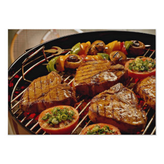 Delicious Grilled T-bone steaks Card