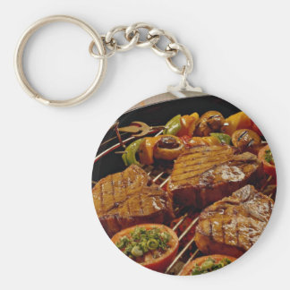 Delicious Grilled T-bone steaks Keychains