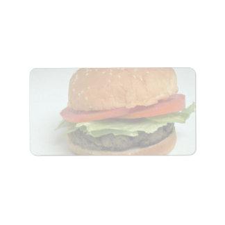 Delicious Hamburger Address Label