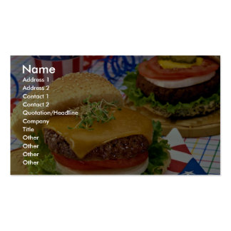 Delicious Hamburger Business Card Templates