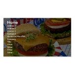 Delicious Hamburger Business Card Templates