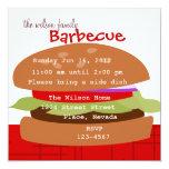 Delicious Hamburger 5.25x5.25 Square Paper Invitation Card