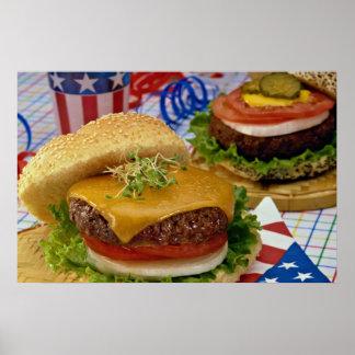 Delicious Hamburger Print