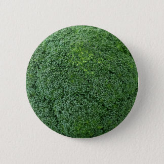 delicious healthy vegan vegetable broccoli image pinback button