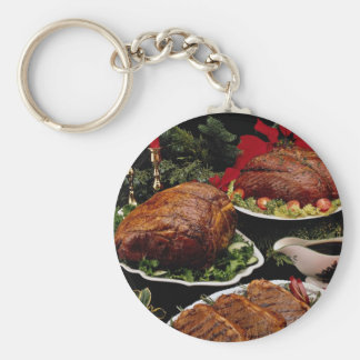 Delicious Holiday beef roast and steaks Key Chains