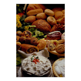 Delicious Holiday cookies and breads Poster