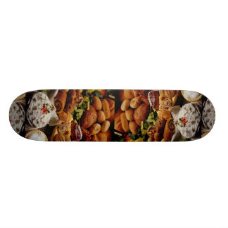 Delicious Holiday cookies and breads Skate Board