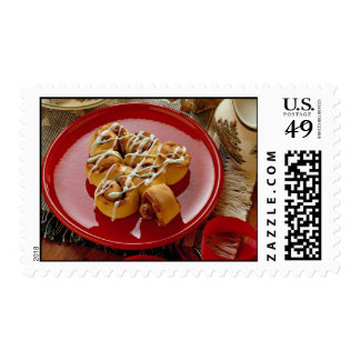 Delicious Holiday glazed pastry Postage Stamps