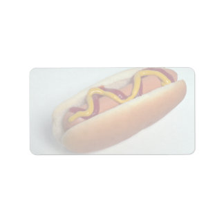 Delicious Hot dog Personalized Address Labels