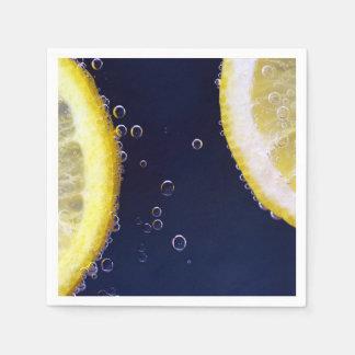 Delicious Lemon Slices in Water Napkin