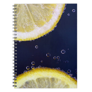 Delicious Lemon Slices in Water Notebook