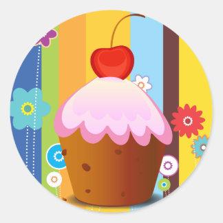 Delicious Love Cake Classic Round Sticker