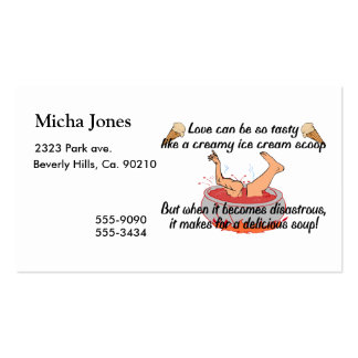 Delicious Love Soup Business Card