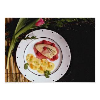 Delicious Low-calorie chicken breast plate 5x7 Paper Invitation Card