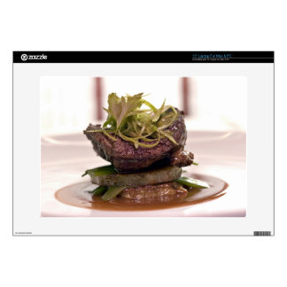 "Delicious meat filet with curry leaves 15"" laptop skin"