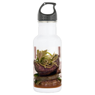 Delicious meat filet with curry leaves stainless steel water bottle