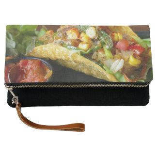 delicious Mexican Tacos photograph Clutch