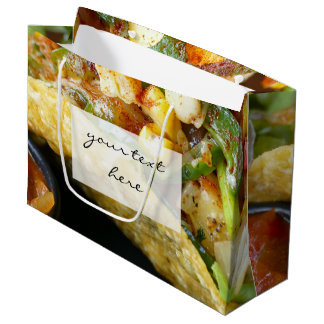 delicious Mexican Tacos photograph Large Gift Bag
