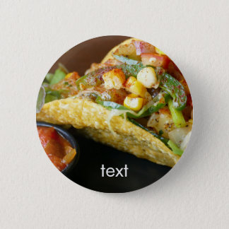 delicious Mexican Tacos photograph Pinback Button