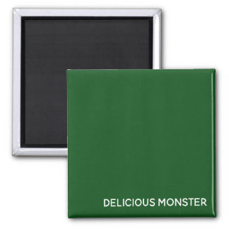 Delicious Monster green color name Magnet