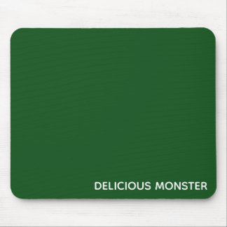 Delicious Monster green color name Mouse Pad
