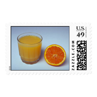 Delicious Orange and juice Stamp