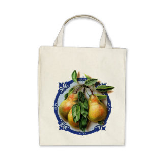 Delicious pears. Nature's best! Canvas Bag