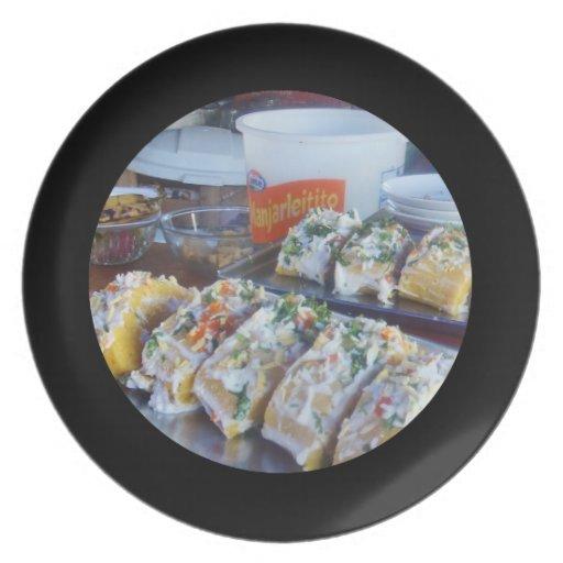 Delicious Peruvian Causa Potato Dish Dinner Plate