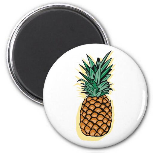 Delicious Pineapple 2 Inch Round Magnet