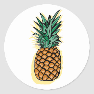 Delicious Pineapple Classic Round Sticker