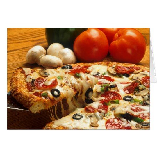 Delicious Pizza Card