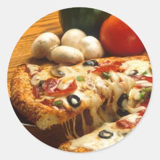 Delicious Pizza Classic Round Sticker