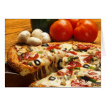 Delicious Pizza Greeting Card