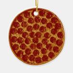Delicious Pizza Pie Christmas Tree Ornaments