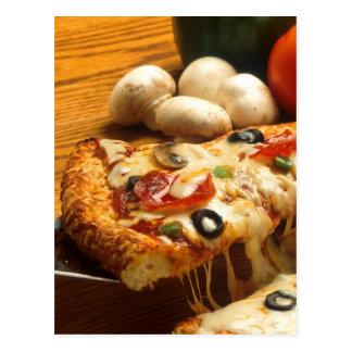 Delicious Pizza Postcard
