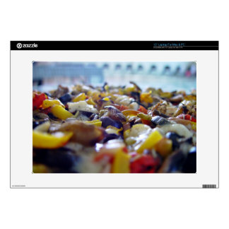 "Delicious pizza with colorful toppings skins for 15"" laptops"