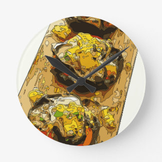 Delicious Potato stuffed with Grilled Veggies Clock