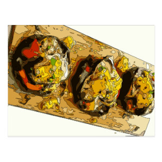 Delicious Potato stuffed with Grilled Veggies Post Card