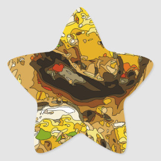 Delicious Potato stuffed with Grilled Veggies Star Sticker