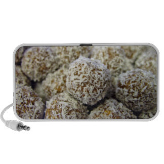 Delicious protein-packed coconut balls travelling speakers