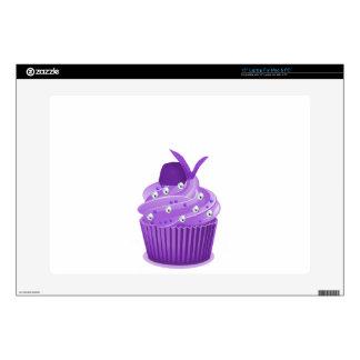 Delicious Purple Cupcakes Laptop Skin