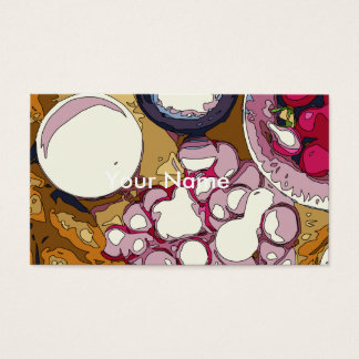 Delicious Radishes and Baguette Vegetables Business Card