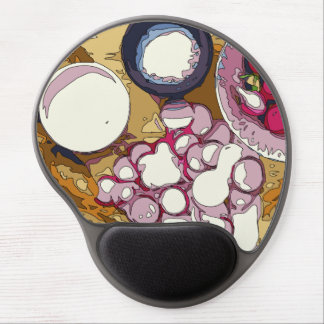 Delicious Radishes and Baguette Vegetables Gel Mouse Pad